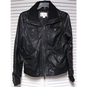 🆕 Faux Black Leather Jacket